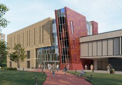 Architectural rendering of library renovations.